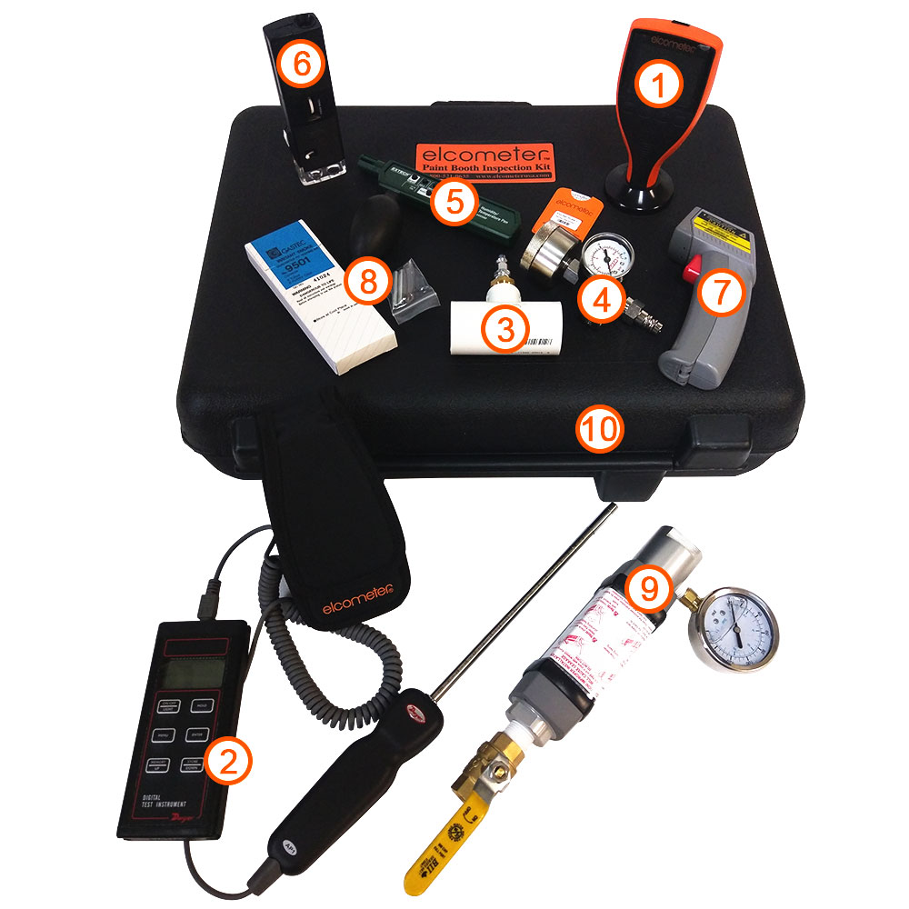 Elcometer Paint Booth Inspection Kit Waterborne Version